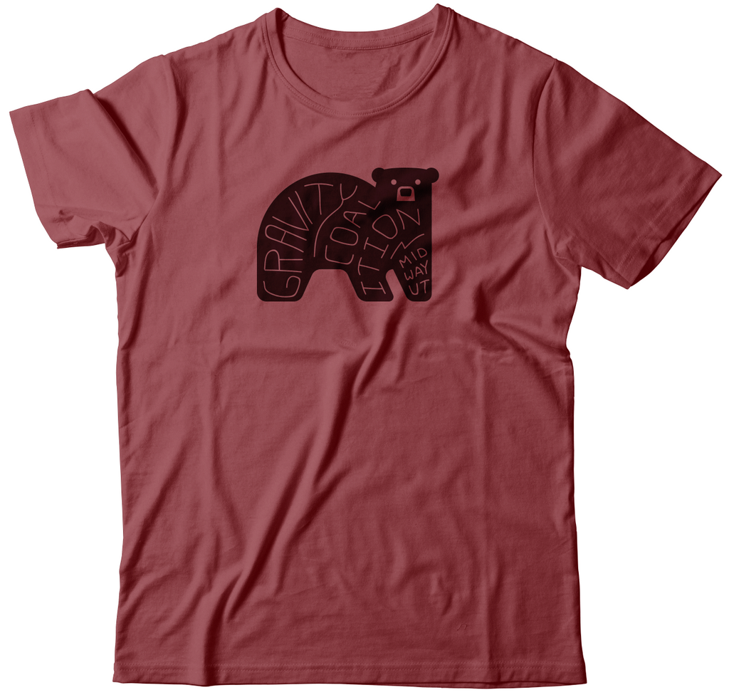 Gravity Coalition Word Bear Tee Shirt - Women's