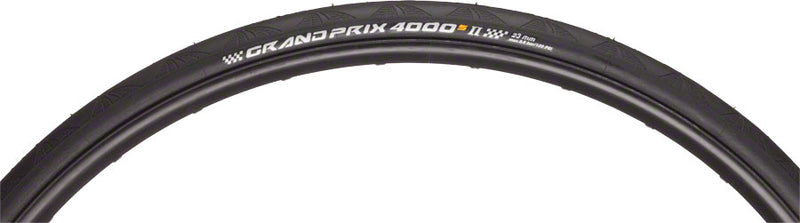 Continental Grand Prix 4000 S II Tire 700x23 Black Folding Bead and Black Chili Rubber