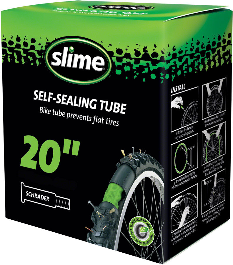 "Slime Self -Sealing Tube 20"" x 1.5-2.125"", Schrader Valve"