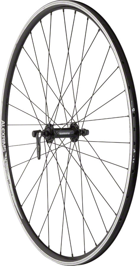 Quality Wheels Front Road Rim Brake 700c 100mm QR Alex DA22 Black / Shimano Tiagra RS400 Black / DT Factory