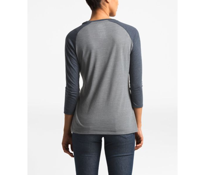 The North Face 3/4 Americana Tri-Blend Baseball Tee - Women's