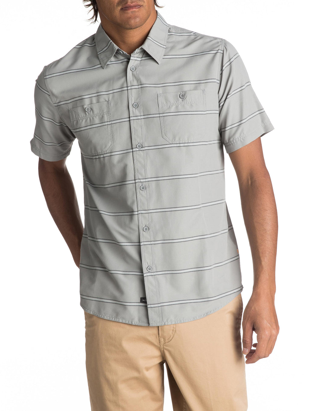 Quiksilver Waterman Wake Stripe Technical Short Sleeve Shirt - Men's