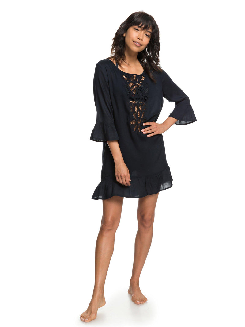 Roxy Goldy Soul 3/4 Sleeve Coverup Dress - Women's