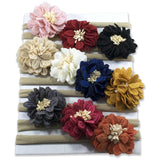 Shimmery Dahlia on Nylon Headband 10 Piece Pack - ZeldaMatilda.com