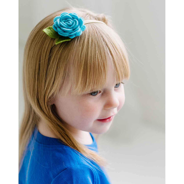 Handmade Luxury felt flowers on nylon - Newborn Headbands 12 Piece Set for babies and big girls