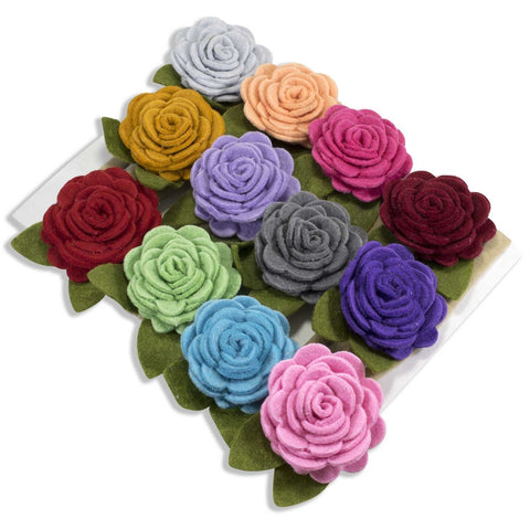 Floral Luxury on Nylon Headbands 12 Piece Set