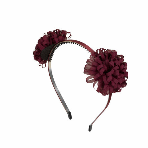 Ramona Suede Wreath On Hard Headband