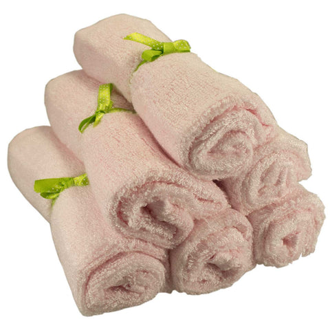 Organic Bamboo Washcloths / Wipes - Cream Color (6 Pack)