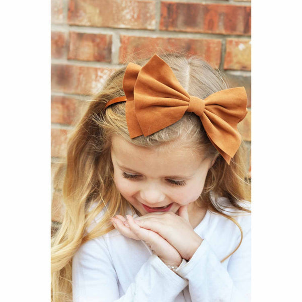 Madeline Large Layer Bow On Hard Headband