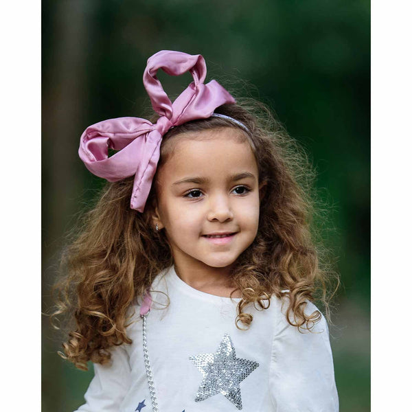 Lucy Present Bow on Adjustable Soft and Stretchy Headband