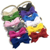 Soft Handmade Felt Bow on Nylon Headband 12 Piece Set by ZeldaMatilda.com