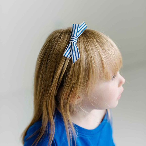 Handmade bow on Nylon soft and comfortable Headbands 10 Piece Set for newborns babies and big girls