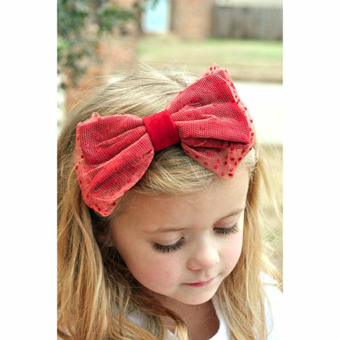 Esperanza Dot Bow On Hard Headband