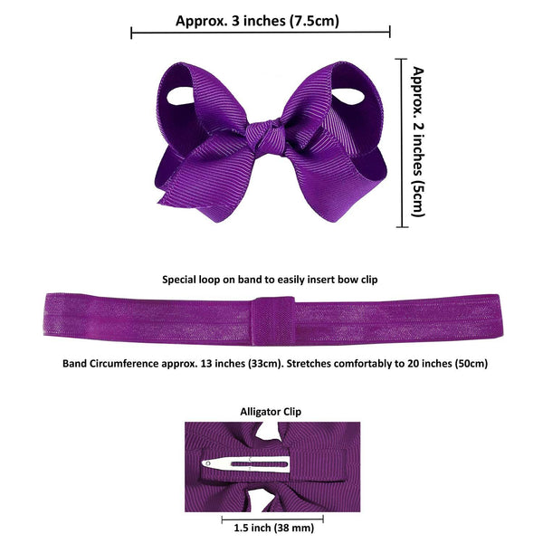 newborn baby bow and headband dimension