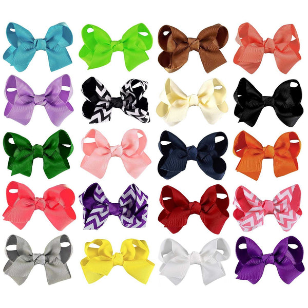 Interchangeable 40 Piece Bow and Headband Set - ZeldaMatilda.com