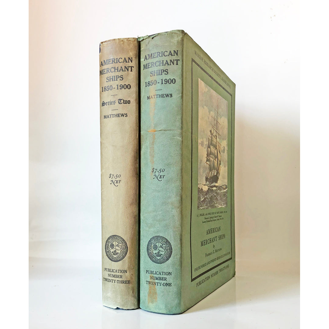 American merchant ships 1850-1900 ; Series one and two by Frederick C. Matthews (Two volumes)