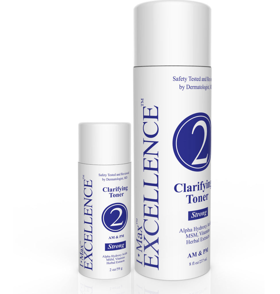 What are the active ingredients for I Max EXCELLENCE #2 Clarifying Toner  2 Oz & 8 Oz?