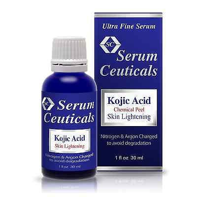 Kojic Acid Serum and Cream-Chemical Peel for Lightening and Whitening Skin