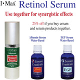 Anhydrous Serum of Retinol, Tocopherol, B-Carotene, CoQ-10 and Omega 3 6 9.