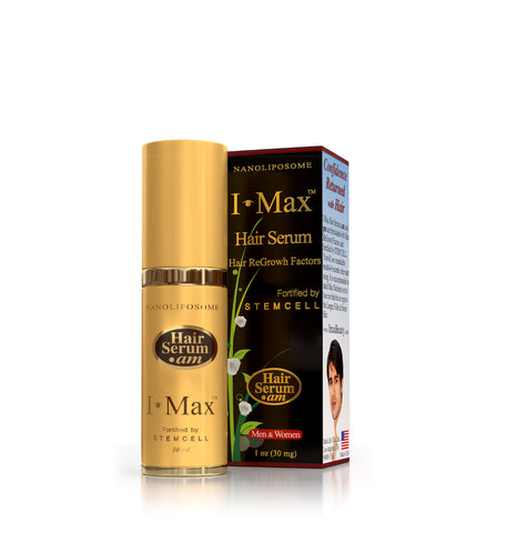 I Max Hair Regrowth & DHT Blocking Serum Preventing Hair Loss or Thinning Hair Fortified by Stem Cell and Nanoliposome-AM