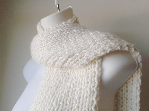 Vegan Knit Scarf Cloudbreak Cream - Smitten Kitten Originals Knits - 1