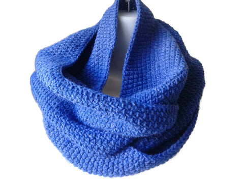 Denim Heather Blue Infinity Scarf - Smitten Kitten Originals Knits - 1