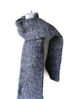 Chunky Knit Scarf Marled Grey Heather - Smitten Kitten Originals Knits - 2