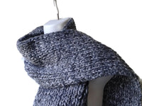 Chunky Knit Scarf Marled Grey Heather - Smitten Kitten Originals Knits - 1