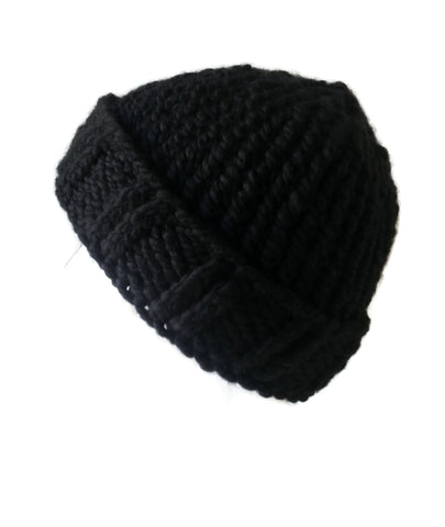 Chunky Knit Hat Black