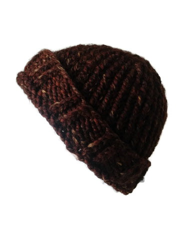 Chunky Knit Hat Brown Sequoia - Smitten Kitten Originals Knits - 1