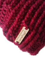 Chunky Knit Hat Cranberry Red - Smitten Kitten Originals Knits - 4