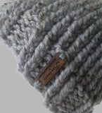 Chunky Knit Hat Grey Marble - Smitten Kitten Originals Knits - 4