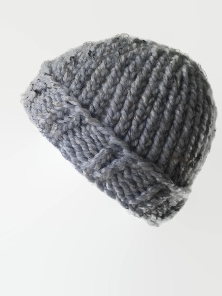 Chunky Knit Hat Grey Marble - Smitten Kitten Originals Knits - 1