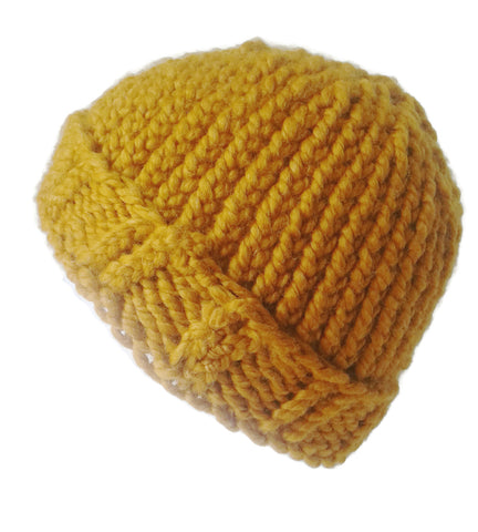 Chunky Knit Hat Golden Yellow - Smitten Kitten Originals Knits - 1