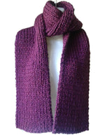 Chunky Royal Purple Knit Scarf - Smitten Kitten Originals Knits - 2