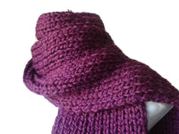Chunky Royal Purple Knit Scarf - Smitten Kitten Originals Knits - 1