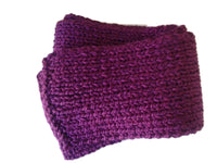 Chunky Royal Purple Knit Scarf - Smitten Kitten Originals Knits - 4