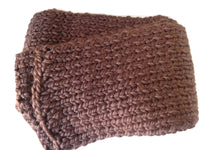 Chunky Knit Scarf Chocolate Brown - Smitten Kitten Originals Knits - 4