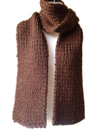 Chunky Knit Scarf Chocolate Brown - Smitten Kitten Originals Knits - 2
