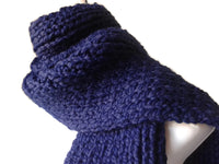Chunky Knit Scarf Navy Blue - Smitten Kitten Originals Knits - 1