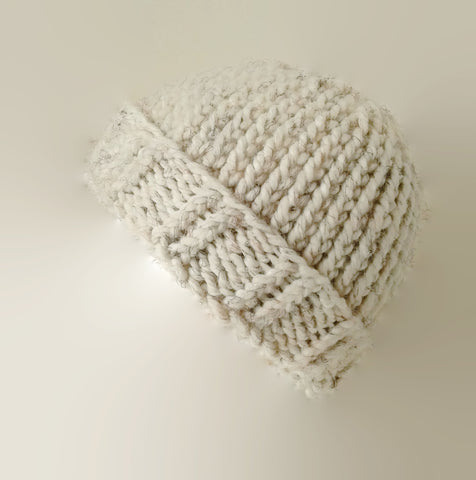 Chunky Knit Hat Oatmeal Heather - Smitten Kitten Originals Knits - 1