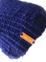 Chunky Knit Hat Navy Blue - Smitten Kitten Originals Knits - 4