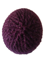 Chunky Knit Hat Purple Sparkle - Smitten Kitten Originals Knits - 3