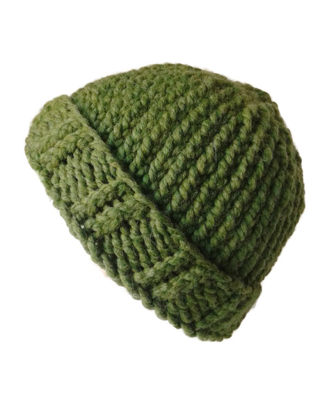 Chunky Knit Hat Green Grass - Smitten Kitten Originals Knits - 1