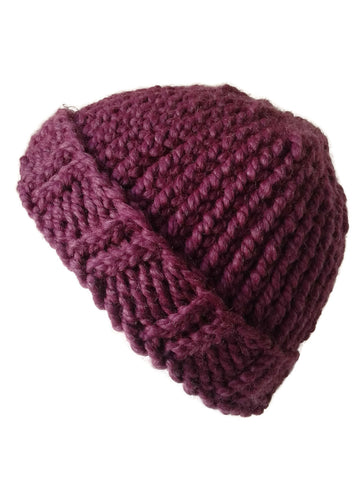 Chunky Knit Hat Fig - Smitten Kitten Originals Knits - 1