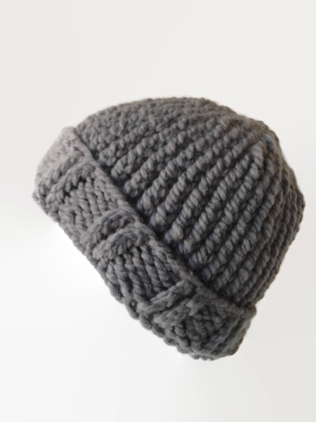 Chunky Knit Hat Pewter - Smitten Kitten Originals Knits - 1