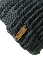 Merino Wool Chunky Knit Hat Grey - Smitten Kitten Originals Knits - 3