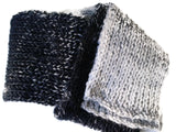 Black White Marled Ombre Knit Scarf - Smitten Kitten Originals Knits - 4