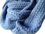 Chambray Blue Alpaca Infinity Scarf - Smitten Kitten Originals Knits - 3