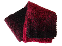 Red Black Marled Ombre Knit Scarf - Smitten Kitten Originals Knits - 5